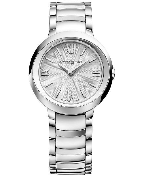 Baume & Mercier Women's Swiss Promesse Stainless Steel Bracelet Watch 30mm M0A10157