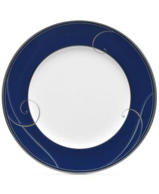 Platinum Wave Indigo Porcelain Salad Plate