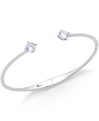 Danori Crystal Hinged Bangle Bracelet Only At Macy S Jewelry Watches