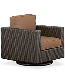 CLOSEOUT! Katalina Wicker Outdoor Swivel Glider, Created for Macy's