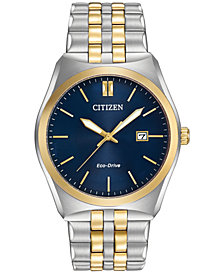 Citizen Men's Eco-Drive Two-Tone Stainless Steel Bracelet Watch 40mm BM7334-58L