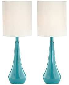 Pacific Coast Set of 2 Blue Metal Table Lamps, Created for Macy's