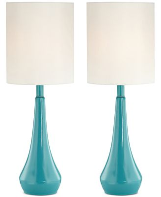 Pacific coast set of 2 blue metal table lamps created for macys
