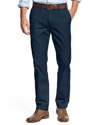 Tommy Hilfiger Men's Custom Fit Chino Pants - Pants - Men - Macy's