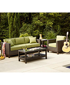 Katalina Outdoor Seating Collection With Sunbrella Cushions Created For Macy S