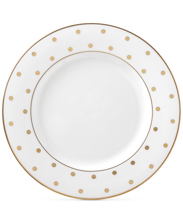 kate spade new york - Larabee Road Gold Collection Bone China Salad Plate