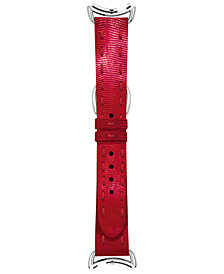 Fendi Timepieces Women's Selleria Red Leather Watch Strap S02II17RB7S