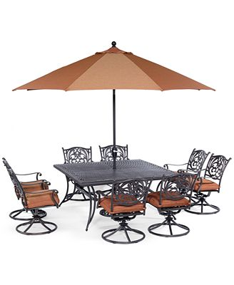 Chateau Outdoor Cast Aluminum 9-Pc. Dining Set (64