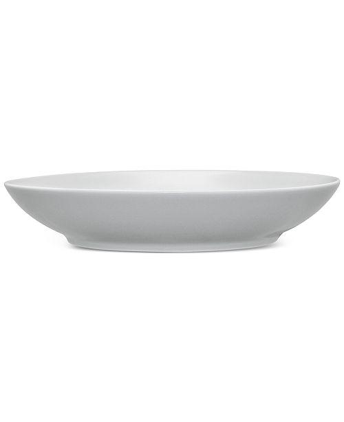 Noritake Grey On Grey Swirl Porcelain Pasta Bowl
