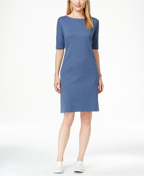 74d06efa2e9b Karen Scott T-Shirt Dress, Created for Macy's & Reviews - Dresses ...