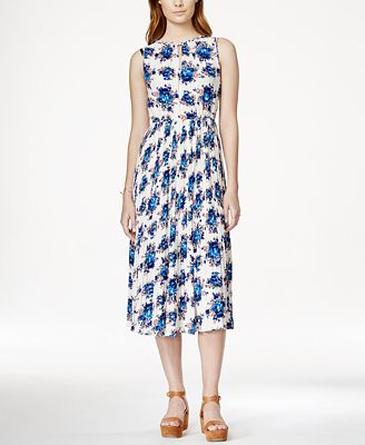 Maison Jules Floral-Print Midi Dress, Only at Macy's