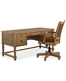 CLOSEOUT! Sherborne Home Office Furniture, 2-Pc. Set (Writing Desk & Chair)