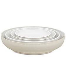 Natural Canvas  Stoneware 4-Pc. Nesting Bowls Set
