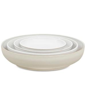 Denby Natural Canvas Stoneware 4Pc Nesting Bowls Set