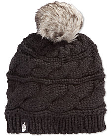 The North Face Faux-Fur-Trim Pom Pom Hat