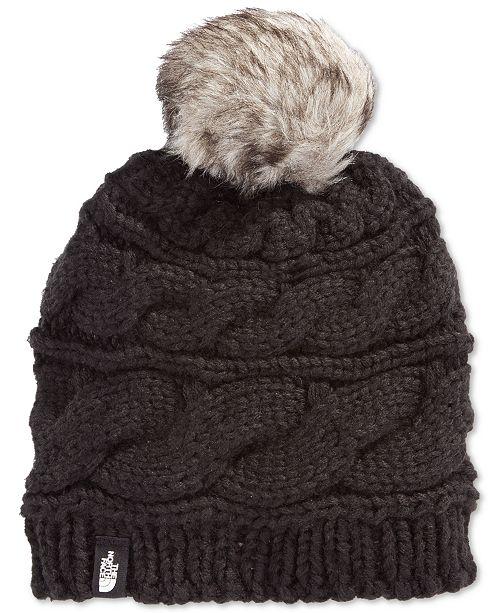 731ec56ce1214 The North Face Faux-Fur-Trim Pom Pom Hat   Reviews - Women s Brands ...