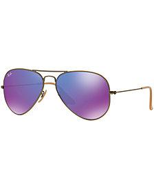 Ray-Ban ORIGINAL AVIATOR MIRRORED Sunglasses, RB3025 58