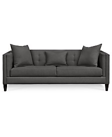 Braylei Track Arm Sofa with 3 Toss Pillows, Created for Macy's
