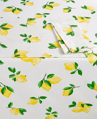 Kate Spade New York Make Lemonade Table Linens Collection Table - Kate spade table linens