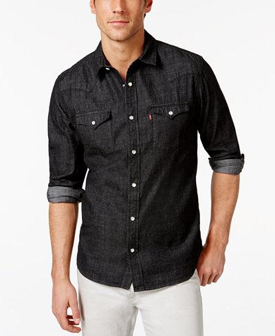 Levi's® Men's Standard Barstow Western Long-Sleeve Denim Shirt ...