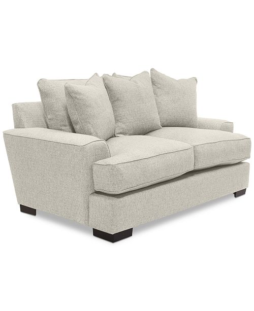 "Furniture Ainsley Fabric Sectional Collection Created For: Furniture Ainsley 75"" Fabric Loveseat, Created For Macy's"