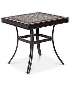 "CLOSEOUT! Park Gate Cast Aluminum 22"" Outdoor End Table, Created for Macy's"