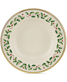 Lenox Holiday Rim Soup Bowl  sc 1 st  Macyu0027s & Christmas Dinnerware Sets - Macyu0027s