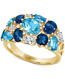 EFFY Blue Topaz (4-3/4 ct. t.w.) and Diamond Accent Ring in 14k Gold