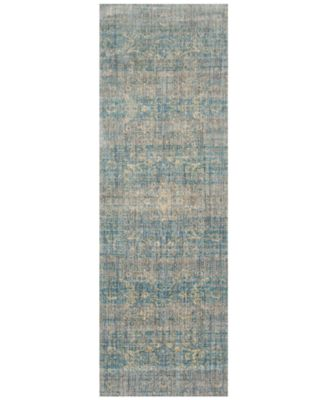 "Andreas   AF-10 Light Blue/Mist 2'7"" x 8' Runner Rug"