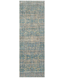 "Macy's Fine Rug Gallery Andreas   AF-10 Light Blue/Mist 2'7"" x 12' Runner Rug"
