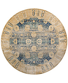 "Macy's Fine Rug Gallery Andreas   AF-09 7'10"" Round Rug"
