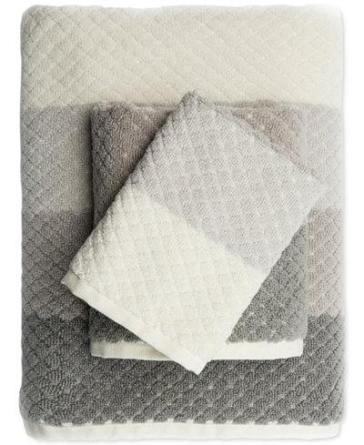 Caro Home Paloma Diamond Stripe Washcloth