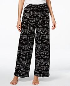 Script-Print Pajama Pants