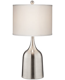 Pacific Coast Medium Brushed Steel Table Lamp, Created for Macy's