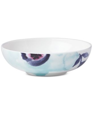 Indigo Watercolor Floral  Fruit Bowl, Created for Macy's