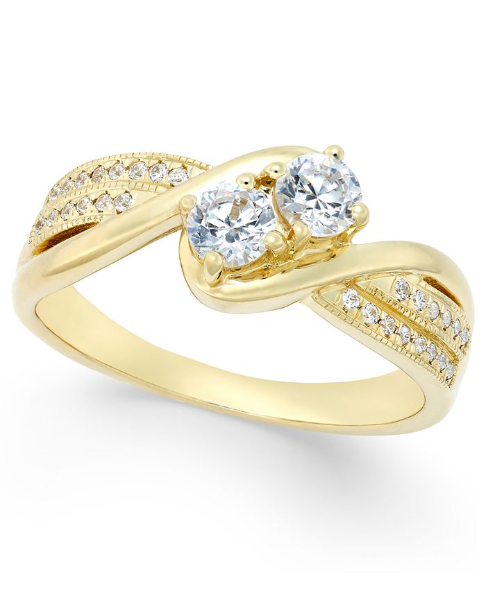 Macy's - Diamond Anniversary Ring (1/2 ct. t.w.) in 14k Gold