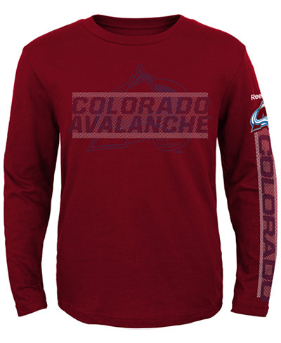 Reebok Boys' Long-Sleeve Colorado Avalanche Line Up T-Shirt
