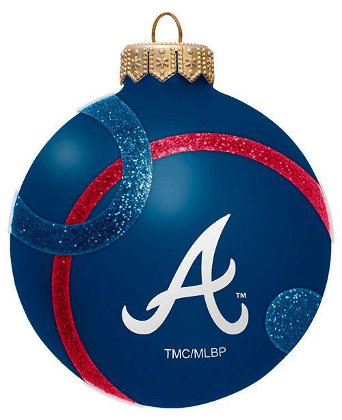 Memory Company Atlanta Braves Traditional Ball Circle Pattern Ornament