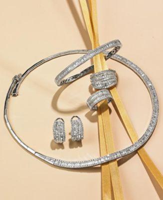 Classique by EFFY® Diamond Diamond Bangle in 14k White or Yellow Gold (1-9/10 ct. t.w.)