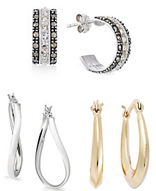 Giani Bernini Fashion Hoop Earring Collection