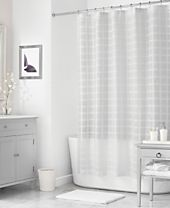 "Martha Stewart Collection 72"" x 72"" Woven Check Shower Curtain, Created for Macy's"