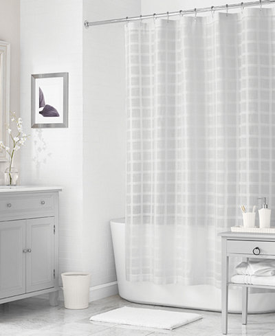Martha stewart collection 72 x 72 woven check shower curtain only at macy 39 s shower curtains Martha stewart bathroom collection