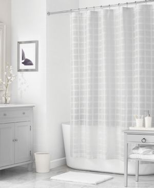 "Closeout! Martha Stewart Collection 72"" x 72"" Woven Check Shower Curtain, Created for Macy's Bedding thumbnail"