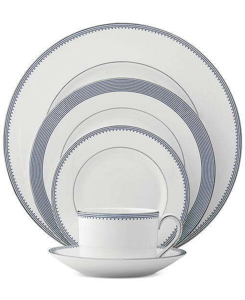Vera Wang Wedgwood Grosgrain Indigo 5-Pc. Place Setting