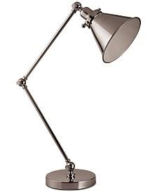 Decorator's Lighting Adjustable Swing Arm Desk Lamp