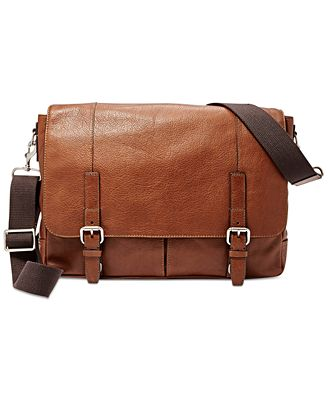 Fossil Graham Leather Messenger Bag - Accessories & Wallets - Men ...