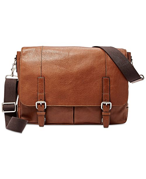 Fossil Graham Leather Messenger Bag 18 Reviews Main Image