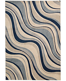 "CLOSEOUT! Nourison Somerset Wave 9'6"" x 13' Area Rug"