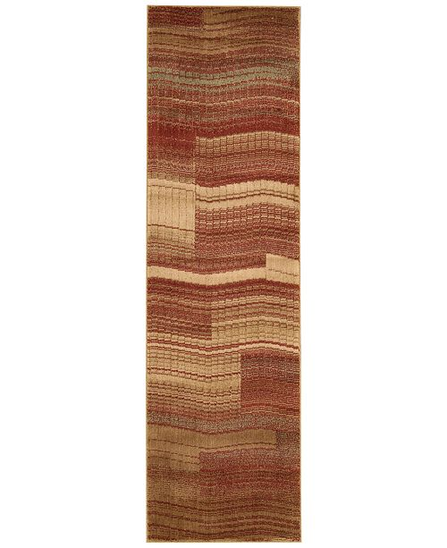 "Nourison CLOSEOUT! Somerset Pathway Flame 2'3"" x 8' Runner Rug"