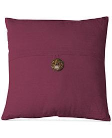 """Elrene Essex Button Flap Linen Blend 18"""" Square Decorative Pillow"""